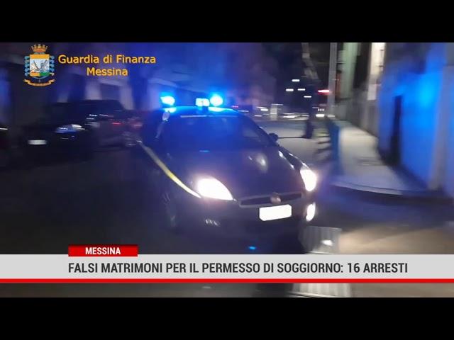 Messina. Falsi matrimoni per il permesso di soggiorno: 16 arresti
