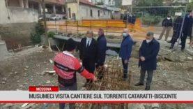 Messina, Musumeci visita cantiere sul torrente Cataratti-Bisconte