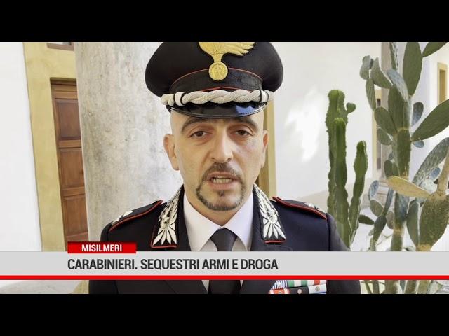 Misilmeri. Carabinieri: sequestri di armi e droga