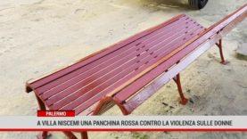 Palermo. A Villa Niscemi una panchina rossa contro la violenza sulle donne