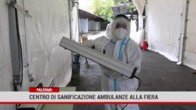 Palermo. Centro di sanificazione ambulanze alla Fiera