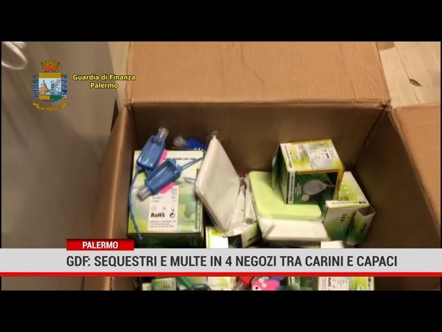 Palermo Gdf: sequestri e multe in 4 negozi  tra Carini e Capaci