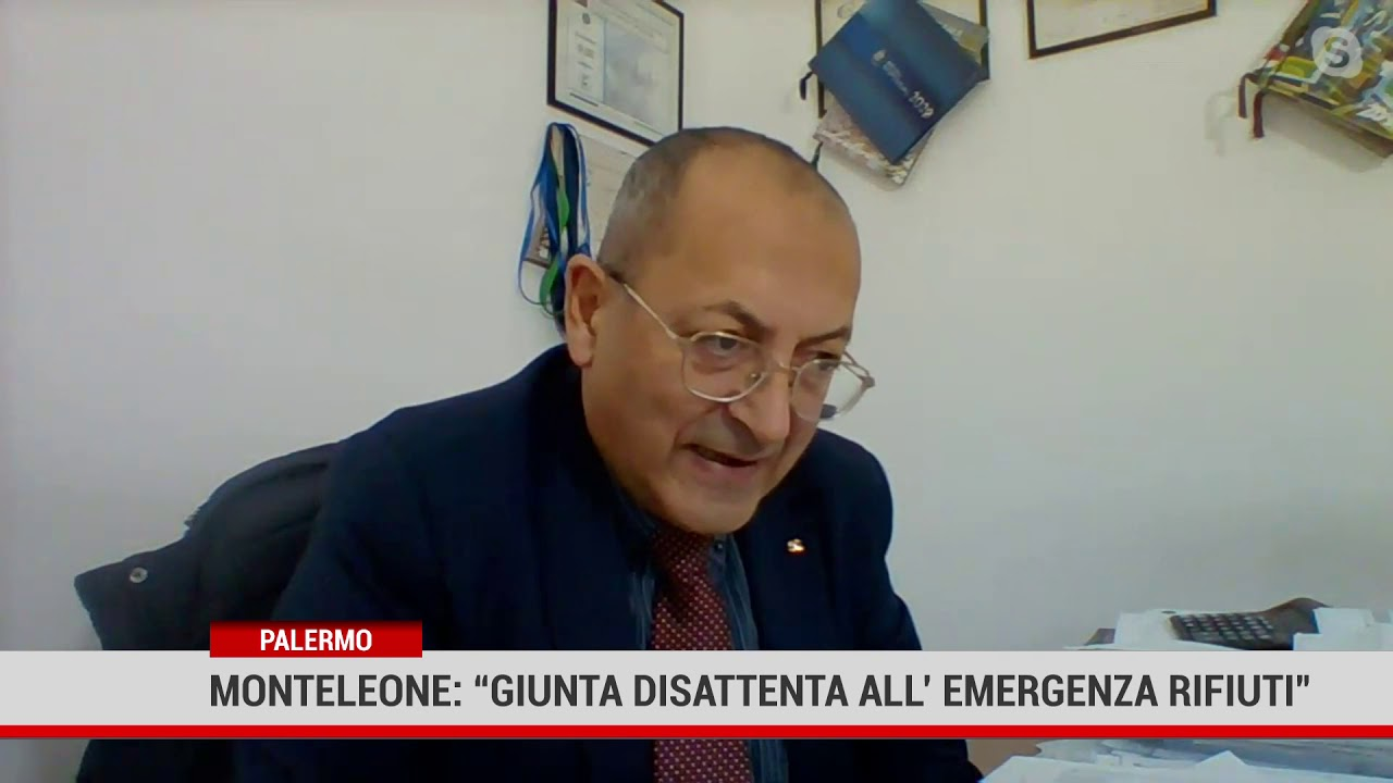 "Palermo. Monteleone:"" giunta disattenta all'emergenza rifiuti"""