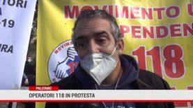 Palermo. Operatori 118 in protesta