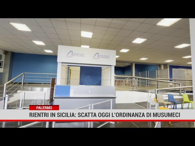 Palermo. Rientri in Sicilia: scatta oggi l'ordinanza di Musumeci
