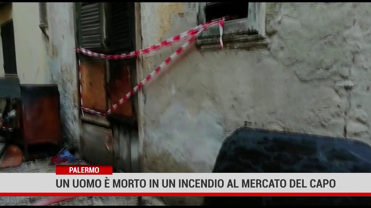 Palermo. Un uomo è morto in un incendio al mercato del Capo