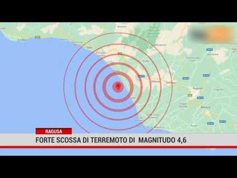 Ragusa. Forte scossa di terremoto di  magnitudo 4,6
