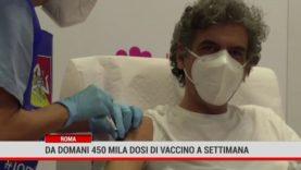 Roma. Da domani 450 mila dosi di vaccino a settimana