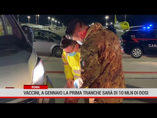 Roma. Vaccini, a gennaio la prima tranche sarà di 10 mln di dosi
