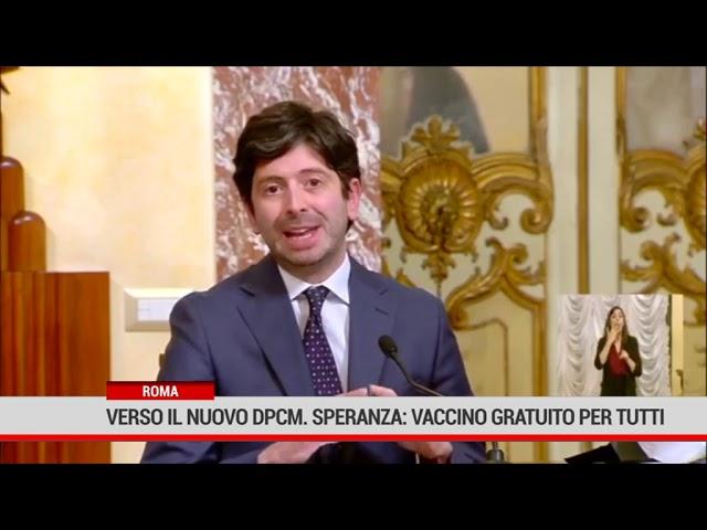 Roma. Verso il nuovo Dpcm. Speranza: vaccino gratuito per tutti