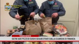 Termini Imerese. Oltre 600 pezzi di sushi sequestrati dalla Guardia di Finanza