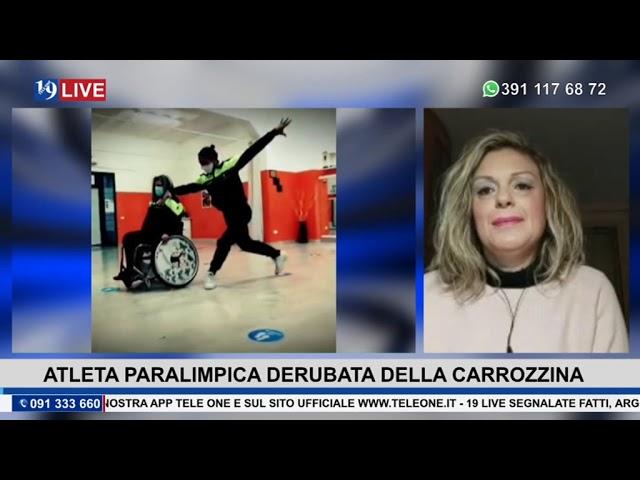 19LIVE   ATLETA PARALIMPICA DERUBATA DELLA CARROZZINA
