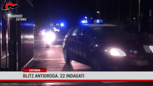 Catania. Blitz antidroga. 22 indagati