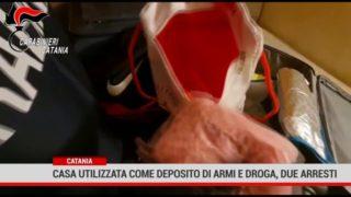Catania. Casa  utilizzata come deposito di armi e droga, due arresti