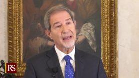 Discorso di fine Anno del Presidente della Regione Siciliana Nello Musumeci