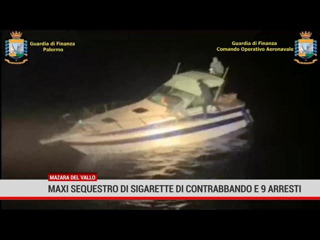 Mazara del Vallo. Maxi sequestro di sigarette di contrabbando e 9 arresti