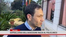 Messina. Sopralluogo dell'assessore  Razza al Policlinico