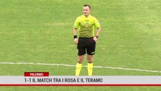 Palermo. 1-1 il match tra i rosa e il Teramo