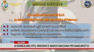 Palermo. Ai domiciliari Vito, Vincenzo e Marco Mazzara per bancarotta