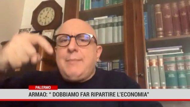 """Palermo.  Armao:"""" Dobbiamo far ripartire l'economia"""""""