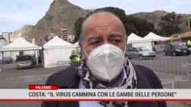"""Palermo. Costa: """" Il virus cammina con le gambe delle persone """""""