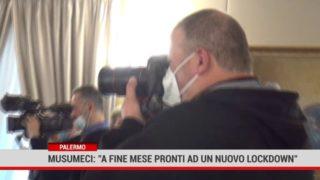 """Palermo. Musumeci: """"A fine mese pronti ad un nuovo lockdown"""""""