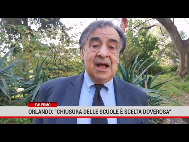 """Palermo. Orlando: """"Chiusura delle scuole è scelta doverosa"""""""