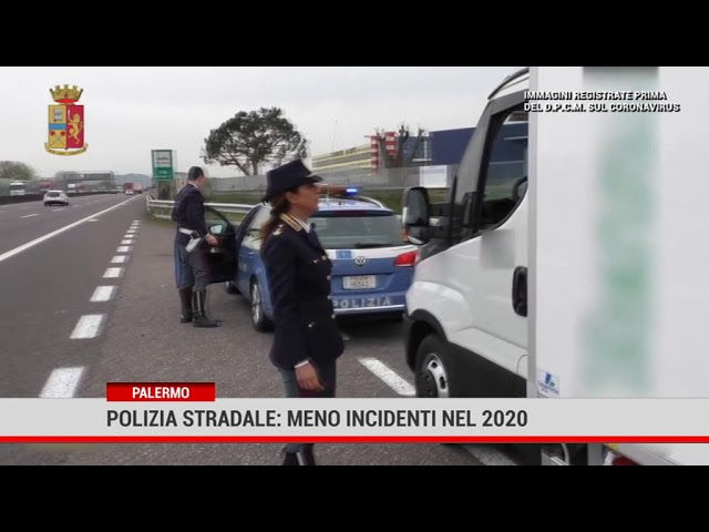 Palermo. Polizia stradale: meno incidenti nel 2020