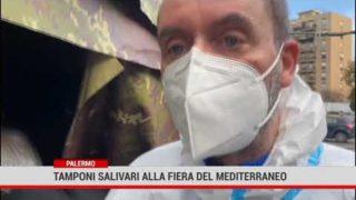 Palermo. Tamponi salivari alla Fiera del Mediterraneo