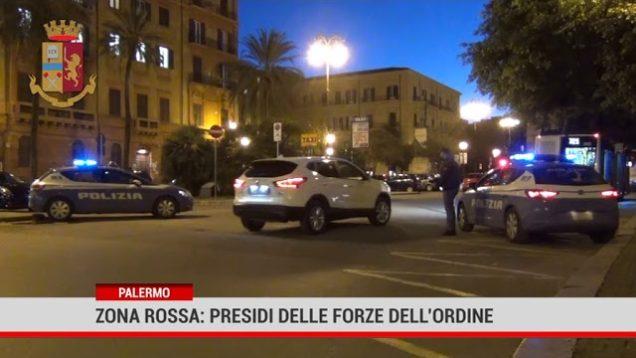Palermo. Zona rossa: presidi delle forze dell'ordine