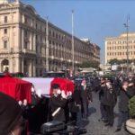 Funerali di Stato per Attanasio e Iacovacci, feretri avvolti nel Tricolore